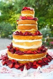 wedding cake no icing strawberry shortcake wedding cake without icing on the outsi