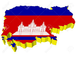 Map Of Cambodia Vectors 3d Map Of Cambodia Royalty Free Cliparts Vectors And