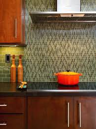 amazing brown subway tile backsplash with contemporary wooden