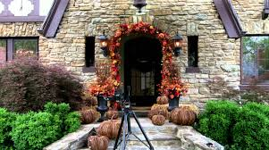 Home Decorations For Halloween by Decorating Your Porch For Fall And Halloween Grandin Road Youtube