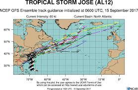 Hurricane Tracking Map Hurricane Jose Spaghetti Models Update Where Is The Path Heavy Com