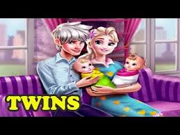 frozen 2017 elsa and jack frost have a baby twins full movie