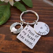remembrance keychain personalized memorial keychain sympathy gift loss of loved