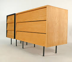 Oak Furniture Set Of Early Florence Knoll Chests For Sale At 1stdibs