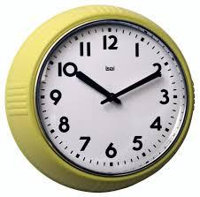 Wall Watch by Amazon Com Bai Retro Wall Clock Chartreuse Home U0026 Kitchen