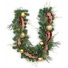 christmas garland battery operated led lights 6 ft easy to shape pre lit valenzia artificial christmas garland