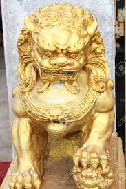 gold lion statue gold lion statue in thailand stock photo picture and