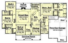 colonial style home plans colonial style house plan 4 beds 3 50 baths 2500 sq ft plan 430 35