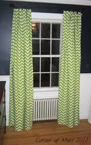 Chevron Nursery Curtains Lime Green Chevron Curtains I Like The Way They Look Against The
