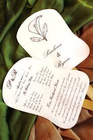 petal fan wedding programs paper fans maracas méxico