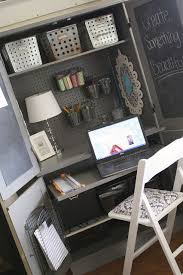 diy craft armoire with fold out table diy show off armoires desks and office spaces