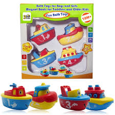 amazon com 3 bees u0026 me bath toys for boys and girls magnet boat