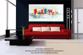 deco maison bord de mer tableau fuchsia gris déco design grande toile rectangle décoration
