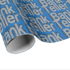 customized wrapping paper bank teller extraordinaire wrapping paper individual customized