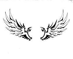 tribal wings designs simple wings
