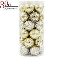 silver and gold tree ornaments glittery home