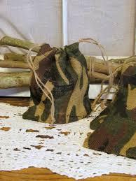 Camouflage Favors by Camo Burlap Favor Bag Burlap Bag Camouflage Wedding Favors