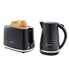 Kettle Toaster Sets Uk Goodmans Diamond Kettle U0026 Toaster Set Black Kitchen Appliances