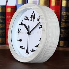 de sexe dans un bureau alarme horloge de bureau montres rétro en bois heures de sexe