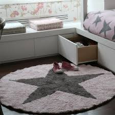 Star Rug Company Round Reversible Star Rug Pink Clever Little Monkey