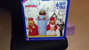 elmo halloween inflatable gemmy 2004 rare 6ft wisemen scene inflatable review youtube