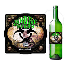 printable zombie virus label printable bottle label fun poison