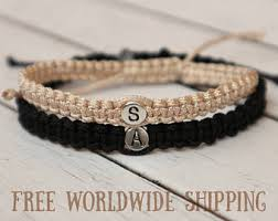 his and hers engraved bracelets couples bracelets etsy