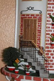 plano de casa de muneca como hacer una linda casa de munecas fachada con dinteles de ladrillo rojo y adornos de forja precio 80euros