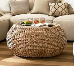 Wicker Storage Ottoman Coffee Table Rattan Storage Ottoman Bonners Furniture