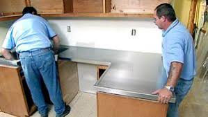 Stainless Steel Kitchen Countertops Choosing Countertops Stainless Steel Diy