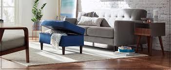 amazon com rivet huxley leather mid century accent chair black