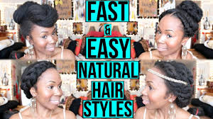 fast u0026 easy protective natural hair styles for work date