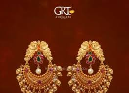 earrings in grt grt jewellers designs south india jewels