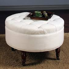 Serving Tray Ottoman by Furniture Best White Round Tufted Ottoman Design Featuring