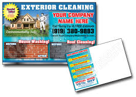 free house cleaning flyer templates powerwashing post cards window cleaning roof cleani and window