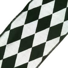 black and white wired ribbon ribbons harlequin diamond sided ribbon black gray white