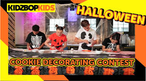Decorate Halloween Cookies Kidz Bop Kids Halloween Cookie Decorating Contest Youtube