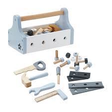 star light blue wooden tool box u2013 all mamas children