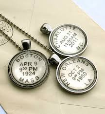 custom engraved jewelry custom personalized necklace postmark style custom children s