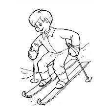 Dessins Gratuits à Colorier  Coloriage Ski à imprimer