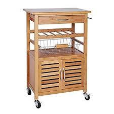 beistellwagen küche holz küchenwagen küchentrolley bambus servierwagen beistellwagen