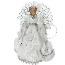 13 lighted b o fiber optic angel with white gown christmas tree