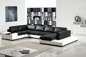 modern black and white leather sectional sofa white and black leather sectional sofa tos lf 2029 whb