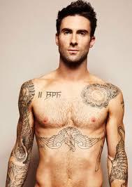 adam levine tattoos on chest tattoos