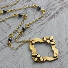 antique necklace chain images As seen on quot the fosters quot gold bronze statement necklace antique jpg