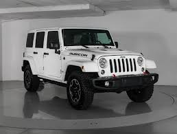 jeep sahara 2016 white used 2016 jeep wrangler unlimited rubicon hard rock suv for sale