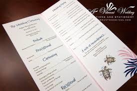 wedding ceremony program paper blue and pink wedding invitation a vibrant wedding