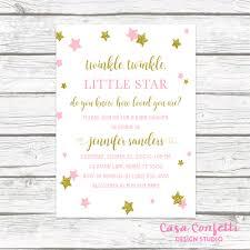 twinkle twinkle little star baby shower invites landscape