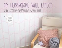 diy herringbone wall effect with scotch expressions washi tape