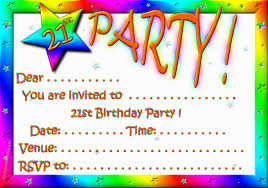 create invitations free its christeen s 21st birthday count card